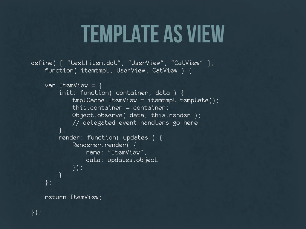 "template as view define( [ ""text!item.dot"", ""Us..."