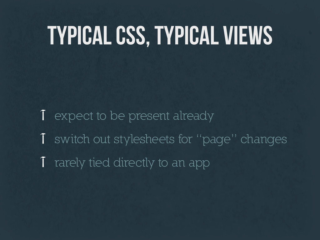 typical css, typical views expect to be present...