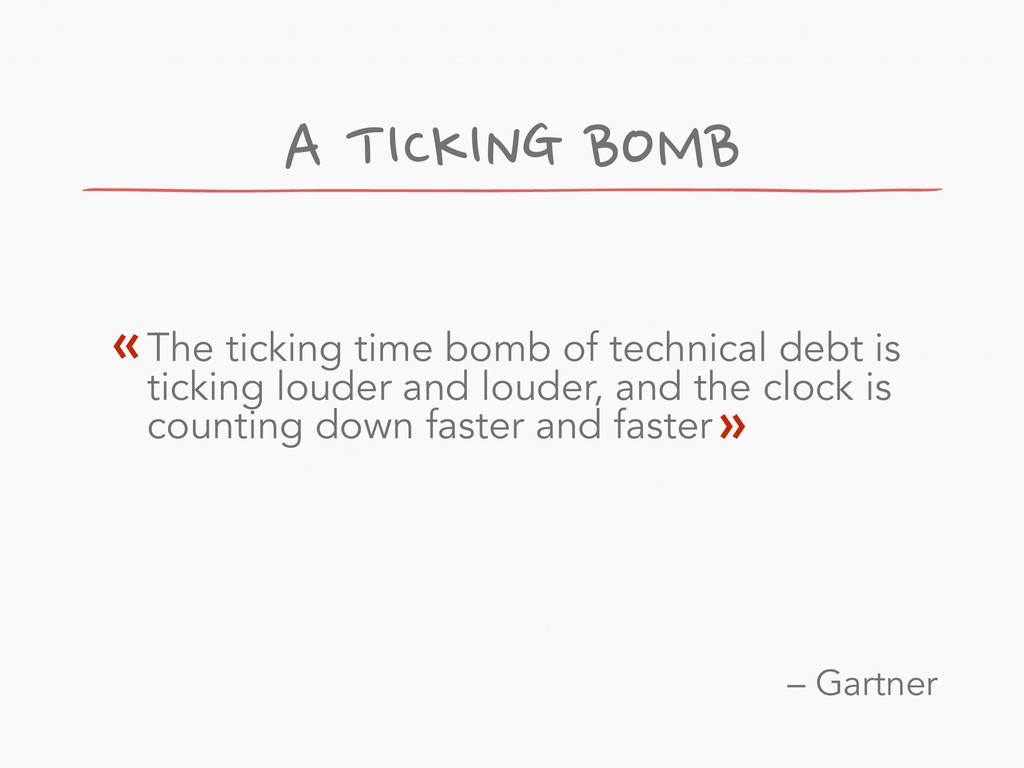 A TICKING BOMB The ticking time bomb of technic...