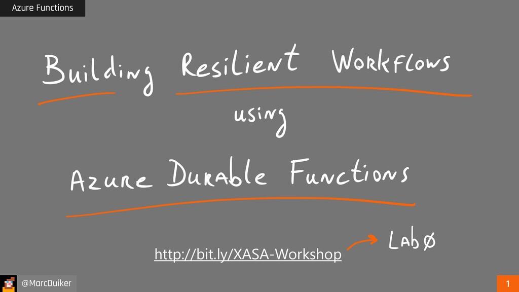Azure Functions @MarcDuiker http://bit.ly/XASA-...