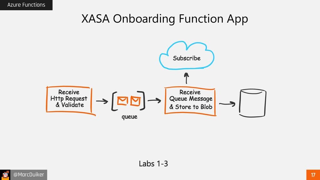 @MarcDuiker Azure Functions XASA Onboarding Fun...