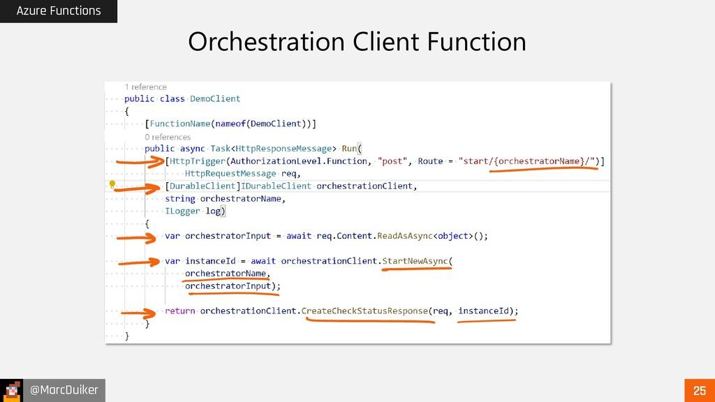 @MarcDuiker Azure Functions Orchestration Clien...