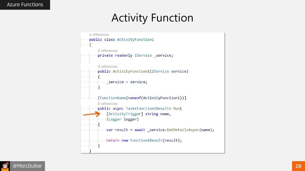 @MarcDuiker Azure Functions Activity Function