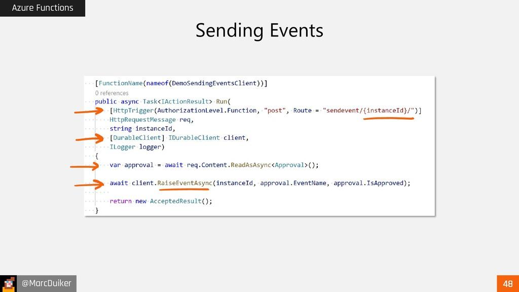 @MarcDuiker Azure Functions Sending Events