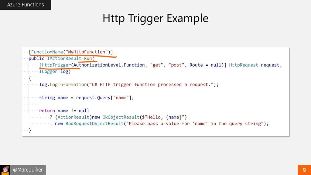 @MarcDuiker Azure Functions Http Trigger Example