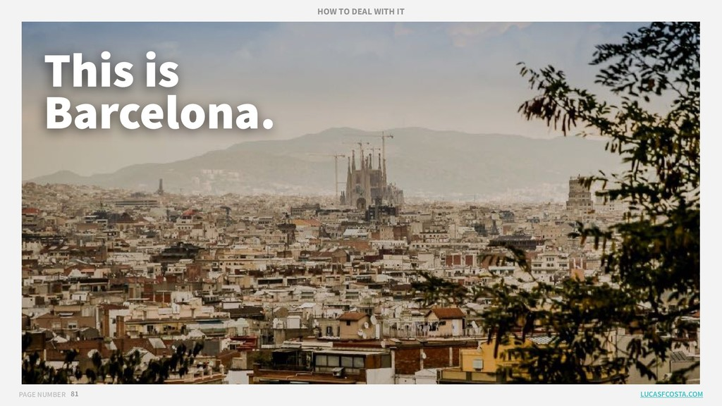 PAGE NUMBER 81 This is Barcelona. LUCASFCOSTA.C...