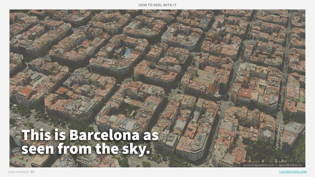 PAGE NUMBER 82 This is Barcelona as seen from t...