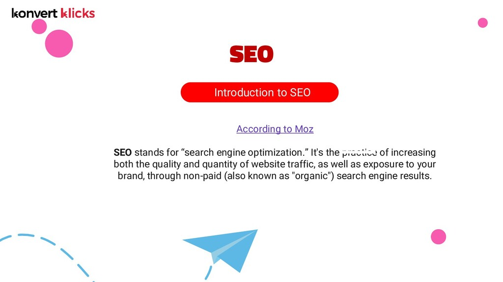 """SEO According to Moz SEO stands for """"search eng..."""