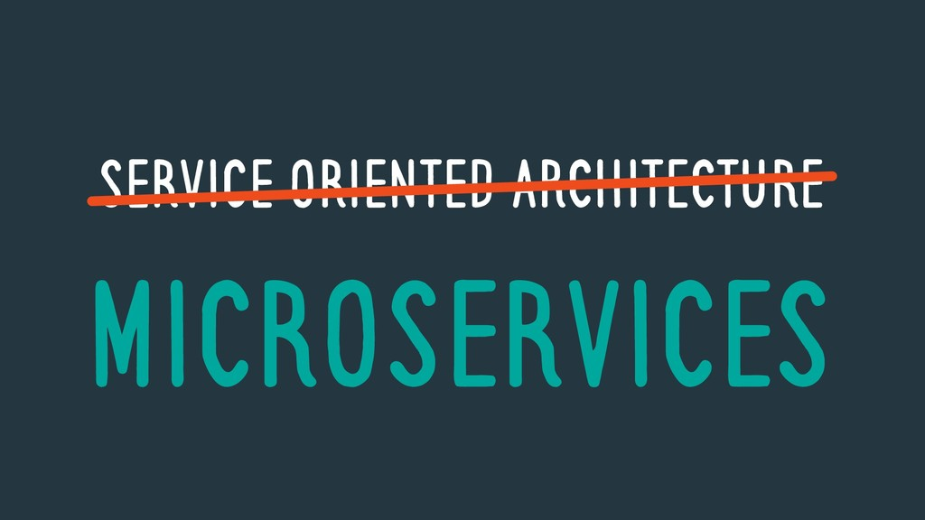 SERVICE ORIENTED ARCHITECTURE MICROSERVICES