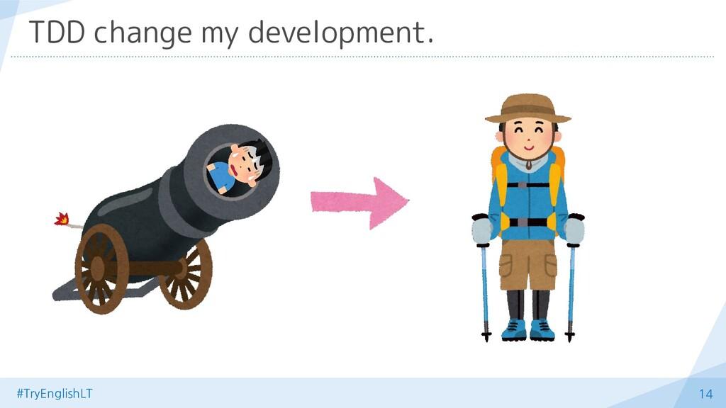 #TryEnglishLT 14 TDD change my development.
