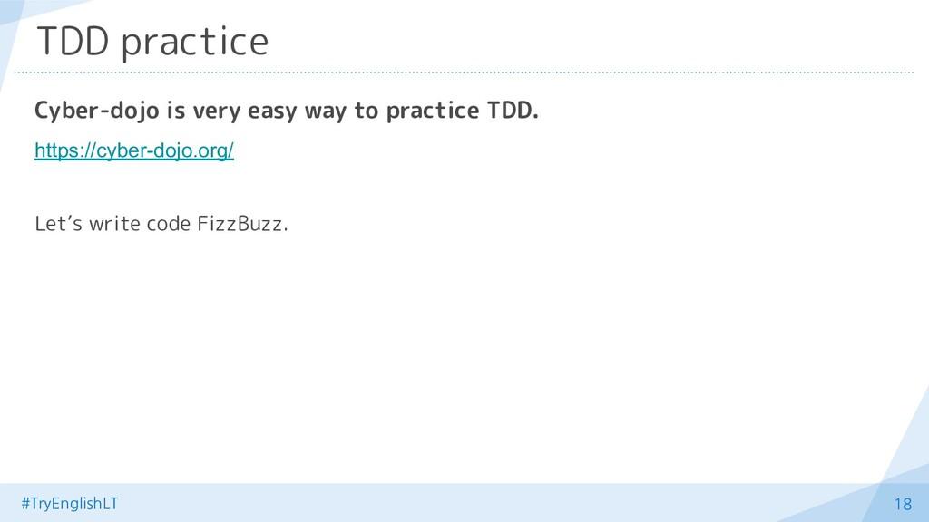 #TryEnglishLT 18 TDD practice Cyber-dojo is ver...