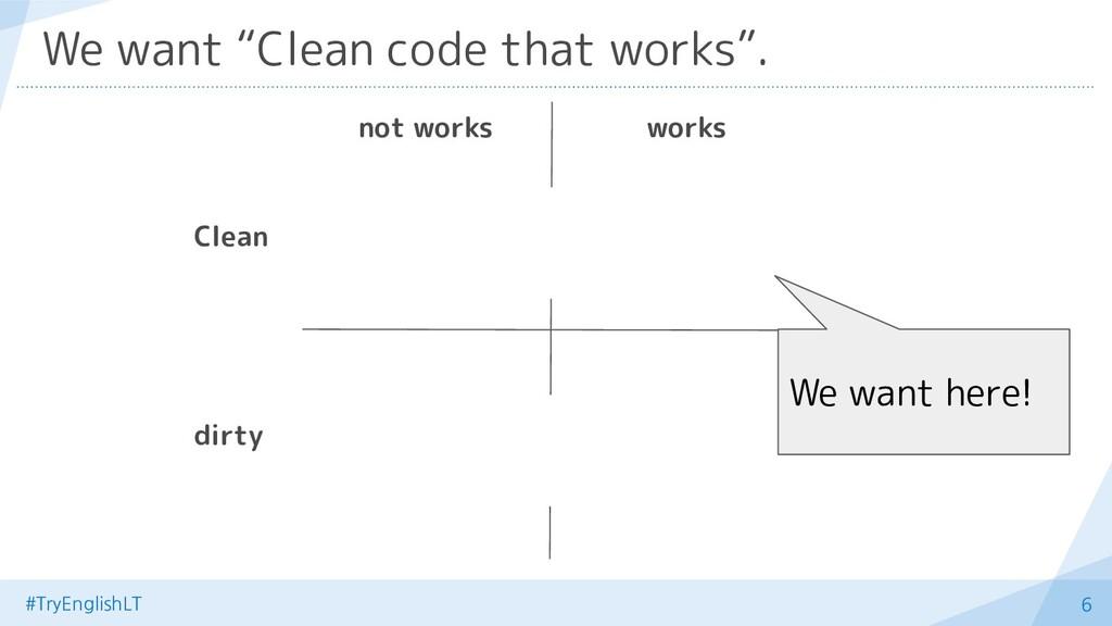 "#TryEnglishLT 6 We want ""Clean code that works""..."