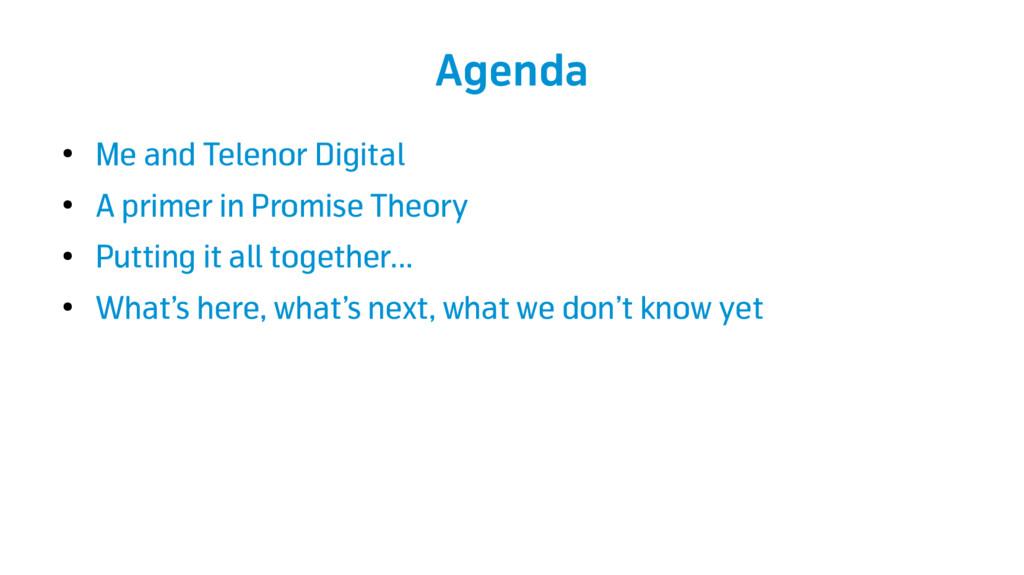 Agenda ● Me and Telenor Digital ● A primer in P...