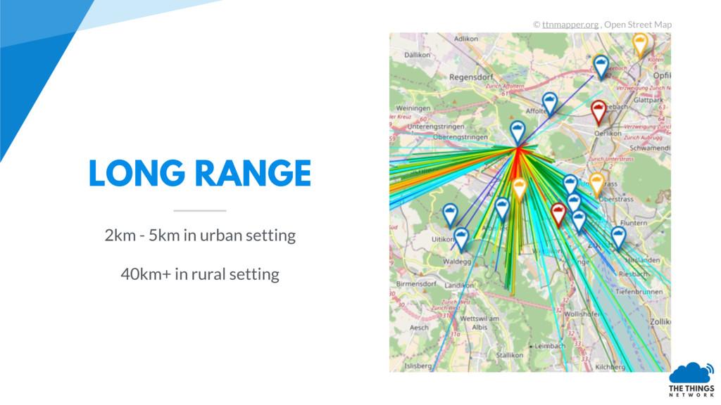 LONG RANGE 2km - 5km in urban setting 40km+ in ...