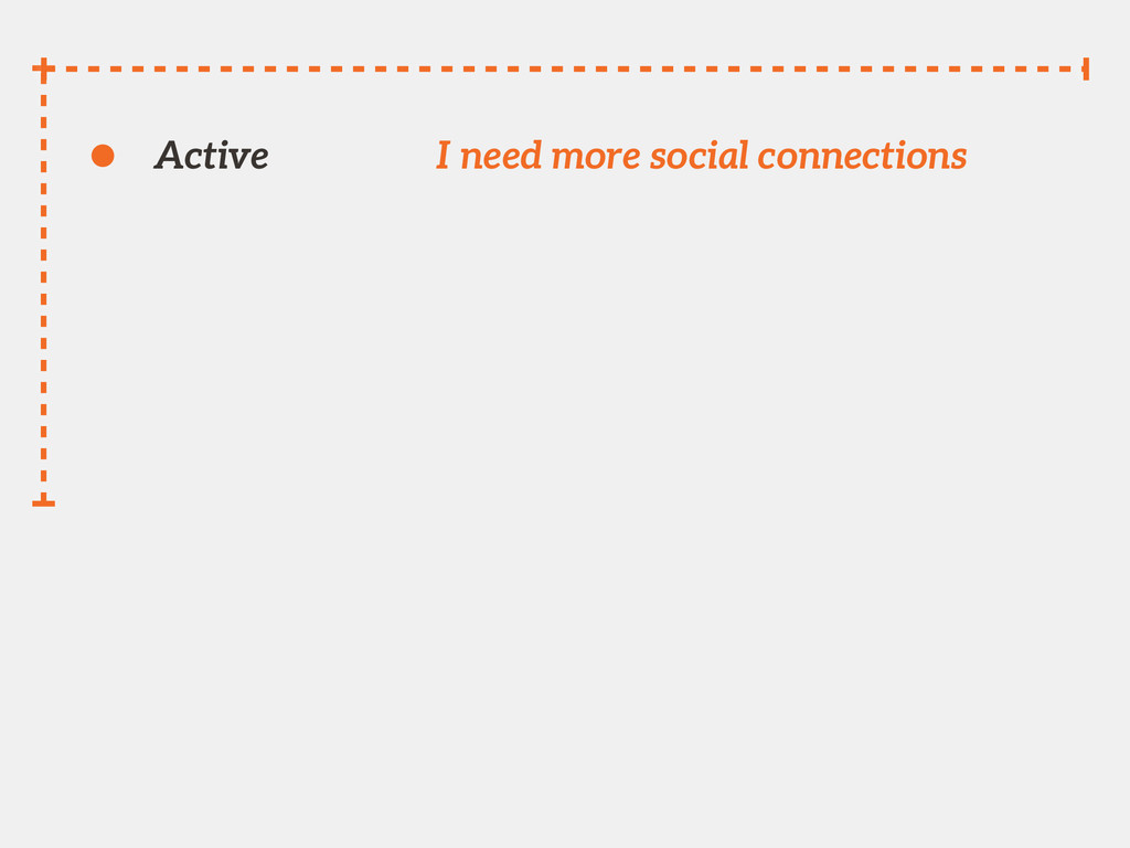 Active I need more social connections