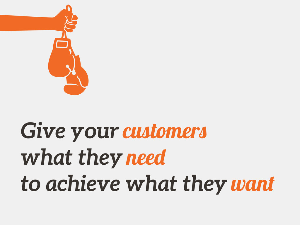 Give your customers what they need to achieve w...