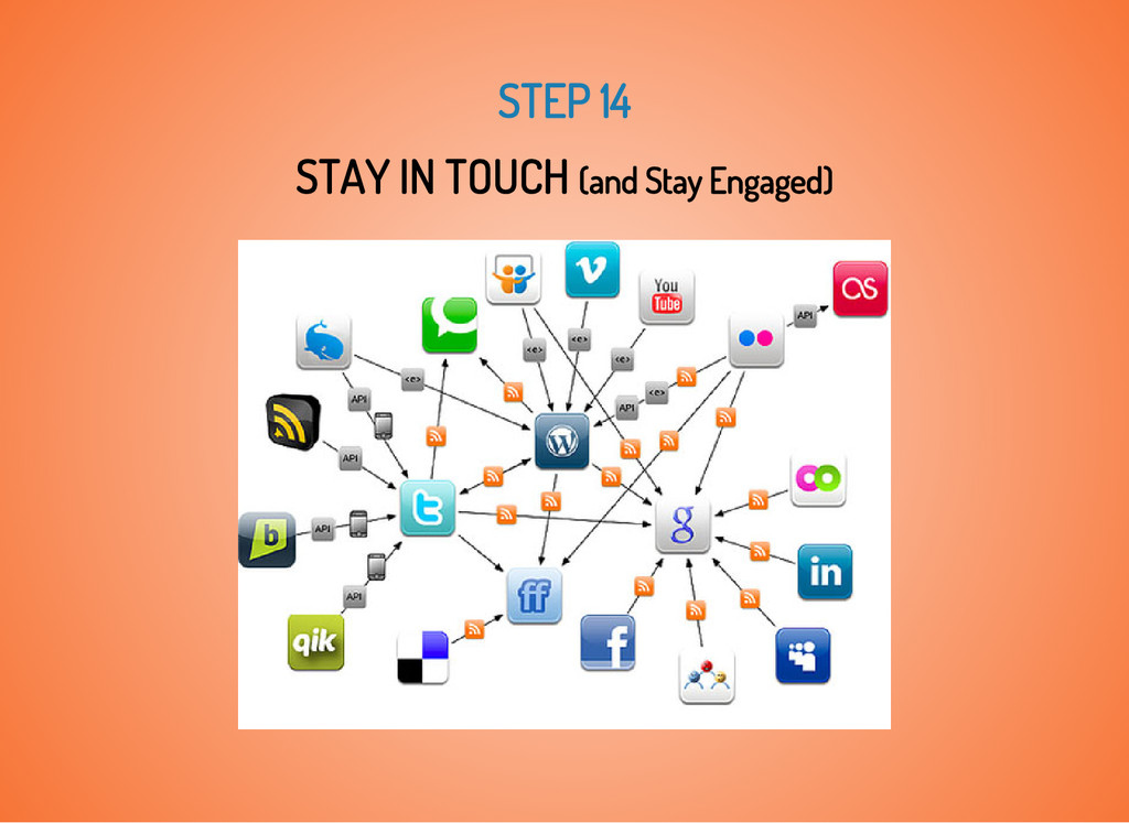 STEP 14 STAY IN TOUCH (and Stay Engaged)