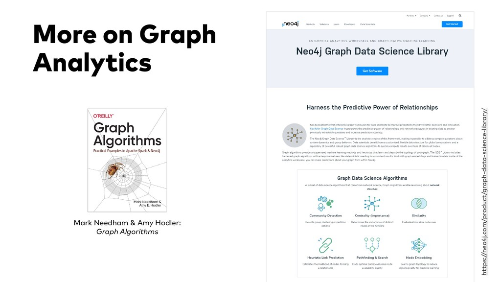 More on Graph Analytics Mark Needham & Amy Hodl...