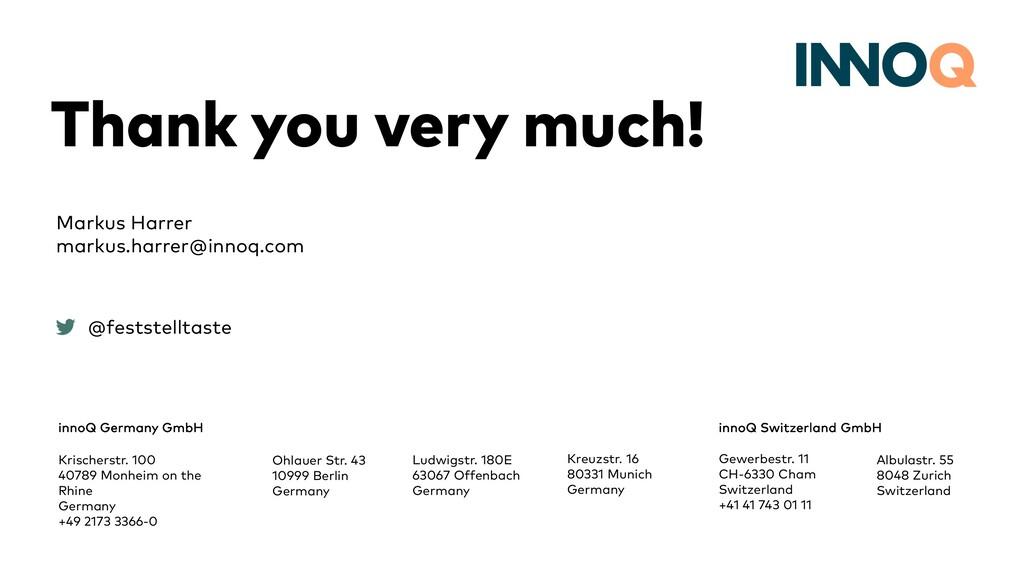 Thank you very much! innoQ Germany GmbH Krische...