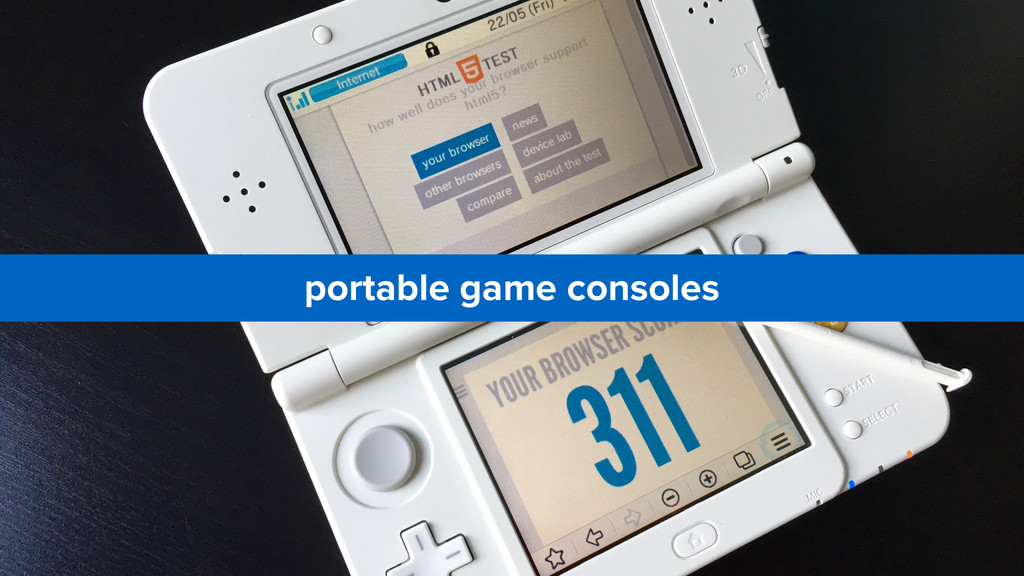 portable game consoles