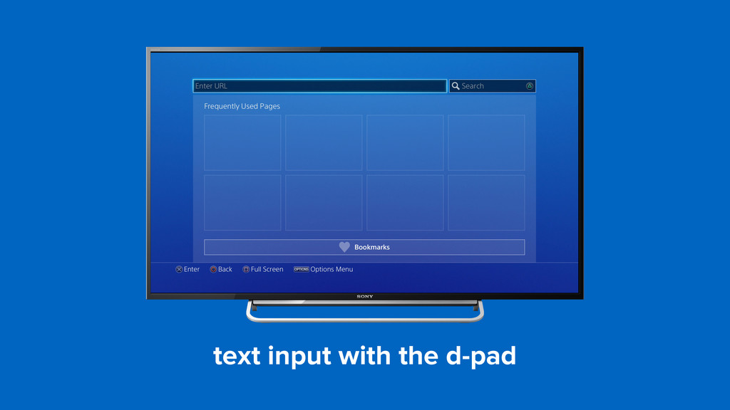 text input with the d-pad
