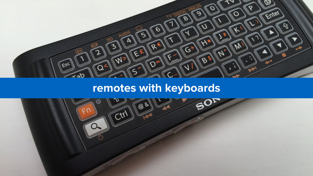 remotes with keyboards