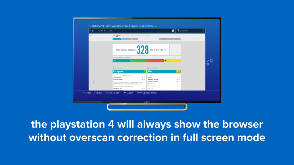 the playstation 4 will always show the browser ...