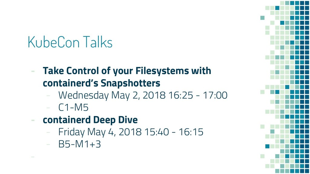 KubeCon Talks - Take Control of your Filesystem...