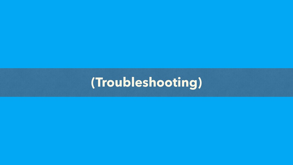 ML Complete (Troubleshooting)
