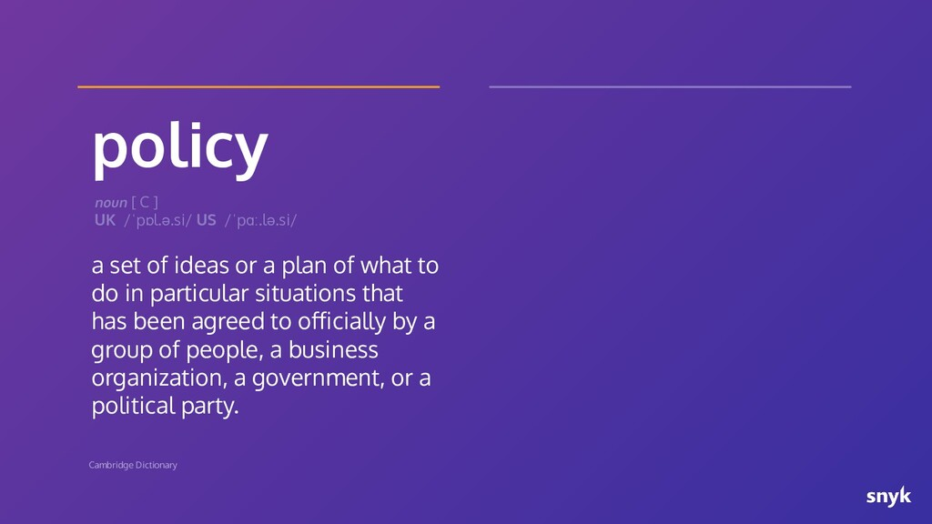 policy a set of ideas or a plan of what to do i...