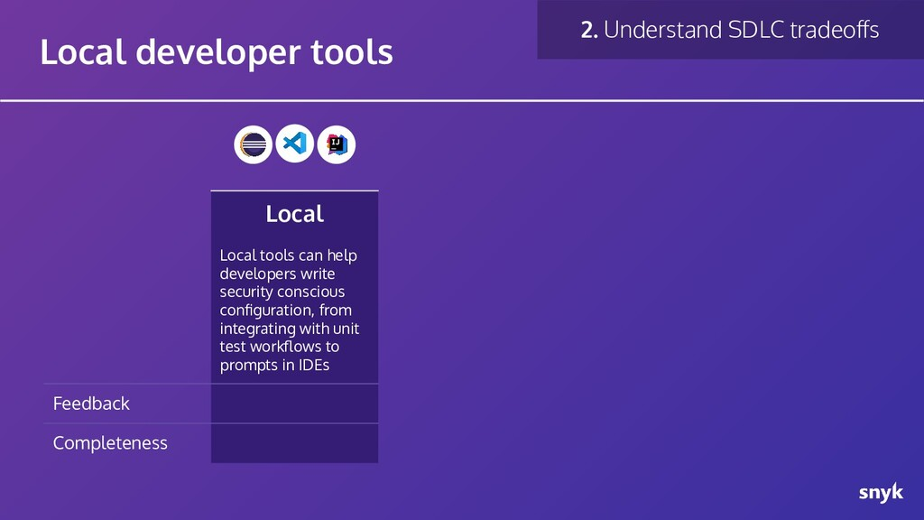 Local Local tools can help developers write sec...