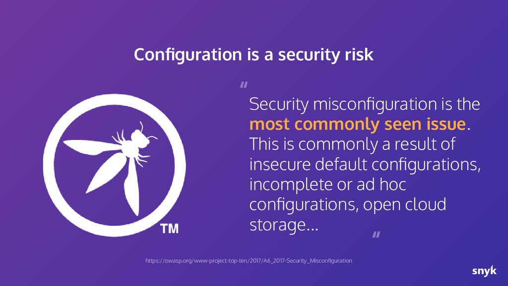 Security misconfiguration is the most commonly s...