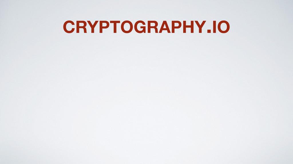 CRYPTOGRAPHY.IO