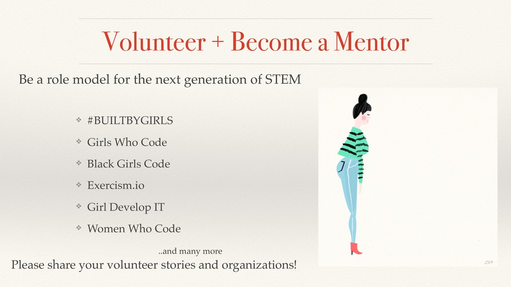 Volunteer + Become a Mentor ❖ #BUILTBYGIRLS ❖ G...