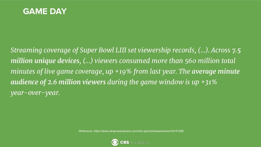 GAME DAY Streaming coverage of Super Bowl LIII ...