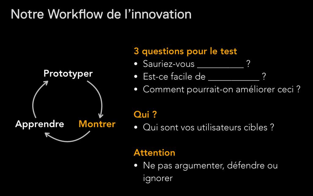 Prototyper Montrer Apprendre 3 questions pour l...