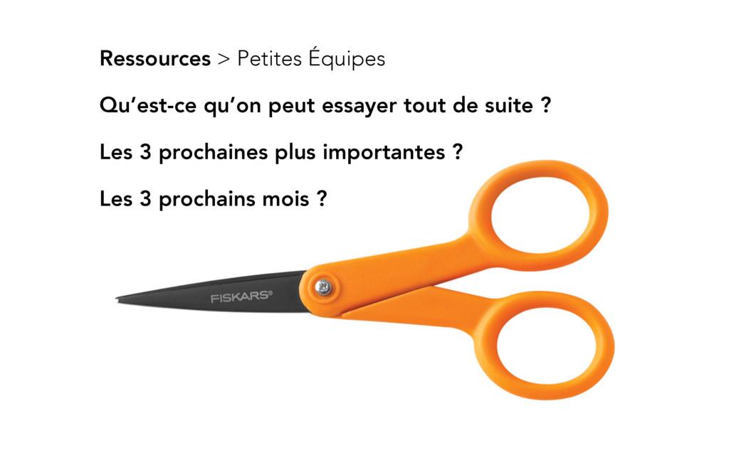 Ressources > Petites Équipes Les 3 prochaines p...