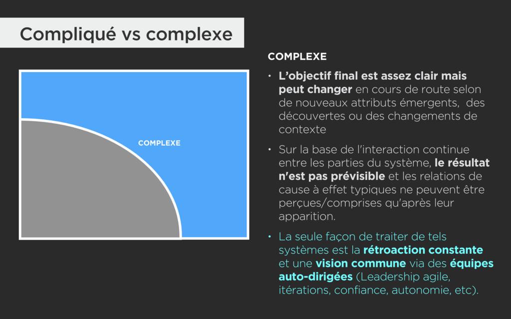 Compliqué vs complexe COMPLEXE COMPLEXE • L'obj...