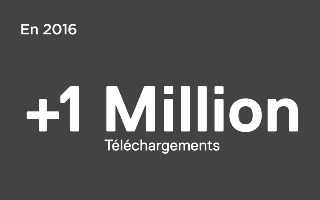 +1 Million Téléchargements En 2016