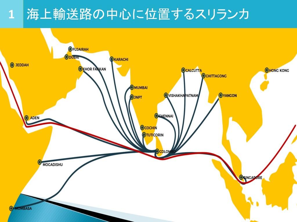 1 海上輸送路の中心に位置するスリランカ