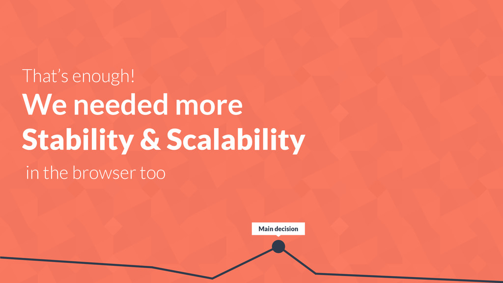 That's enough! We needed more Stability & Scala...