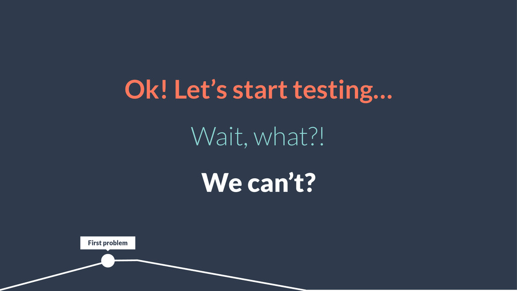 Ok! Let's start testing… Wait, what?! We can't?...