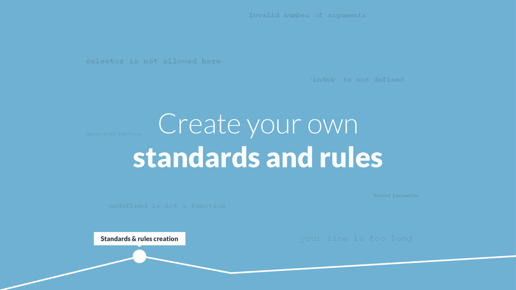 Create your own standards and rules ! selector ...