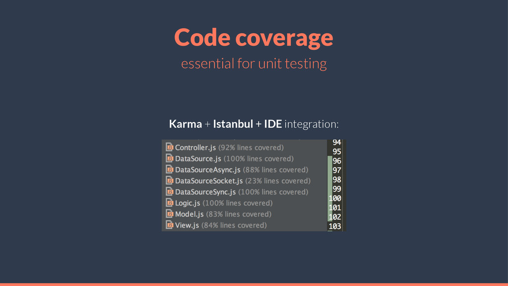 Code coverage essential for unit testing Karma ...