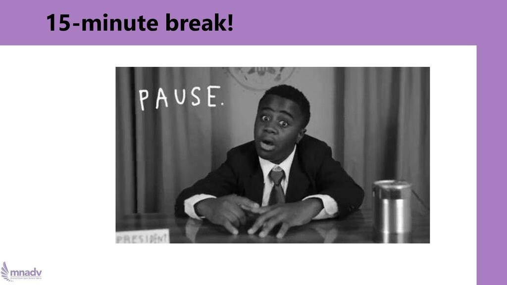 15-minute break!