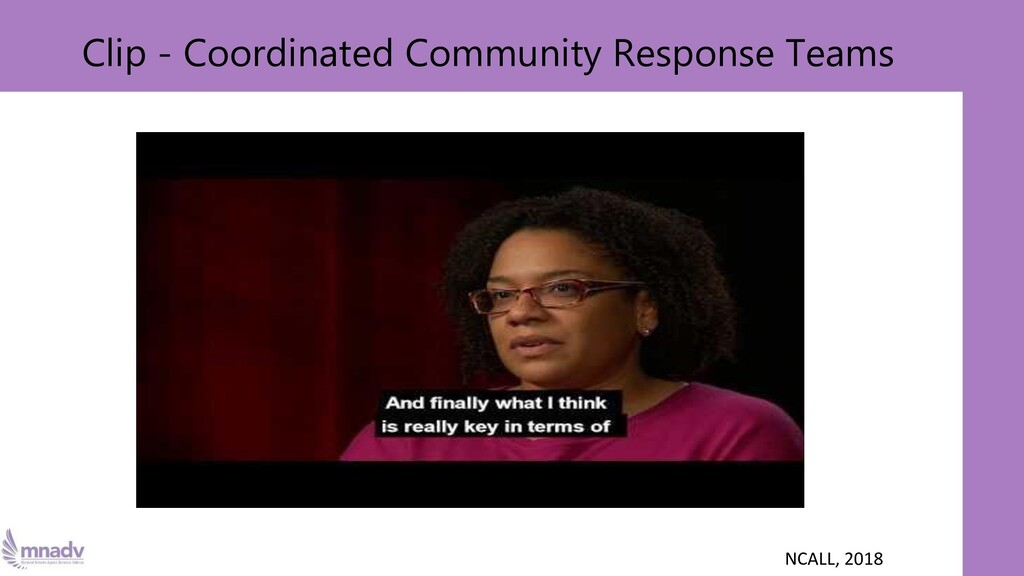 Clip - Coordinated Community Response Teams NCA...