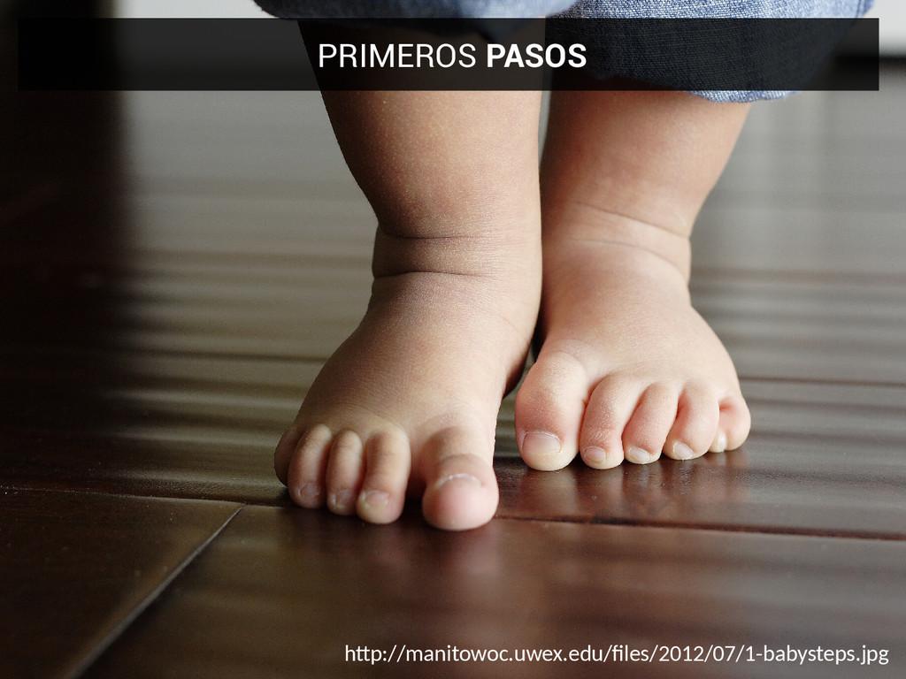 PRIMEROS PASOS htp://manitowoc.uwex.edu/fles/20...