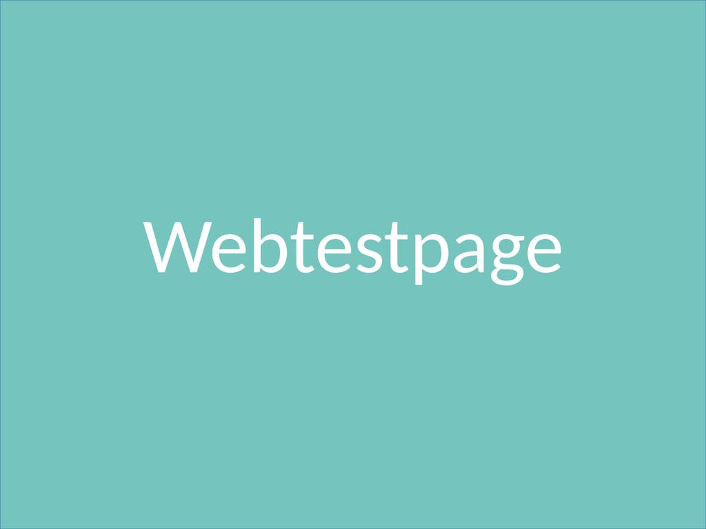 Webtestpage