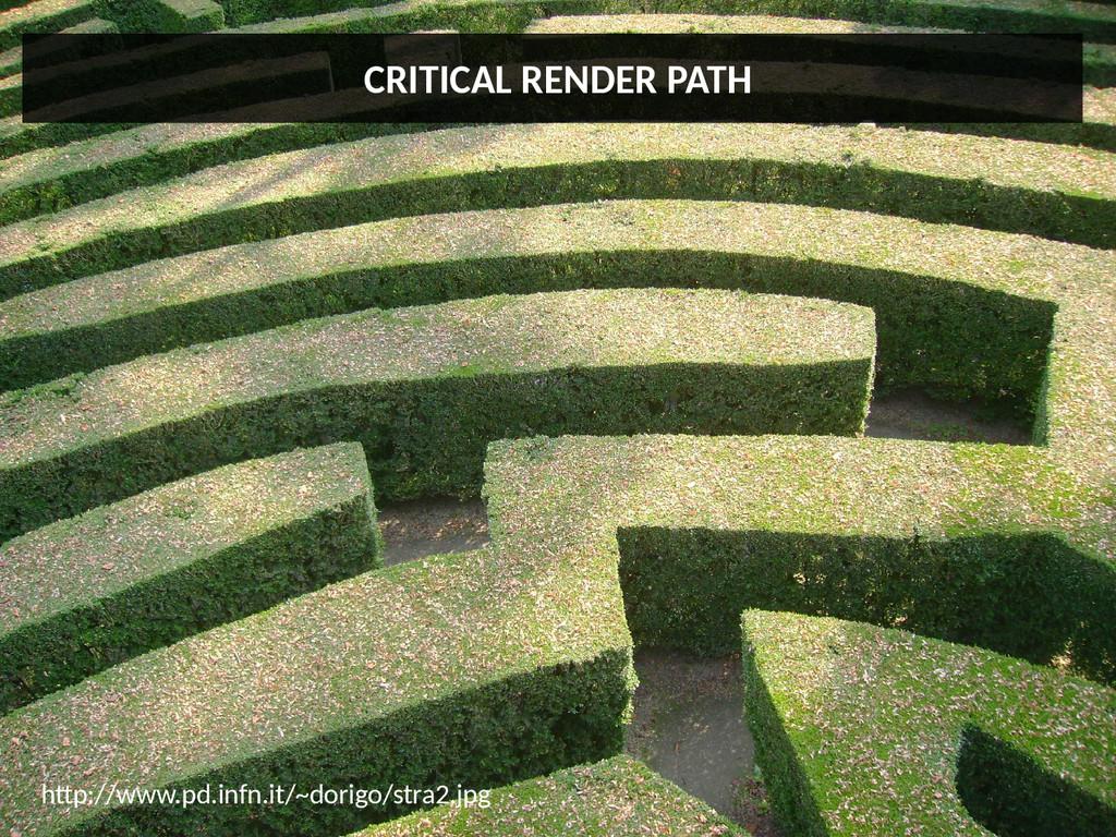 CRITICAL RENDER PATH htp://www.pd.infn.it/~dori...