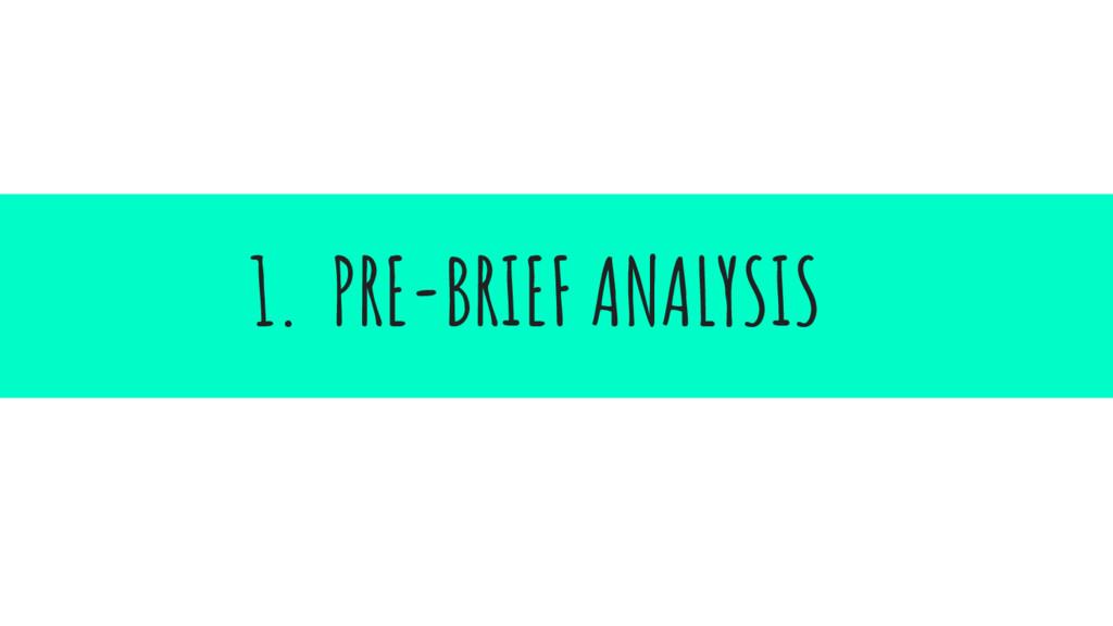 1. PRE-BRIEF ANALYSIS